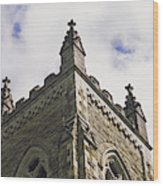 Low Angle View Of A Church, Trinity Wood Print