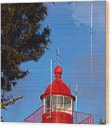 Low Angle View Of A Lighthouse, Morgat Wood Print