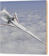 Low-boom Supersonic Aircraft, Artwork Wood Print