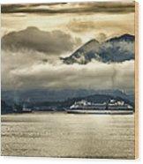 Low Clouds - Half Speed Wood Print