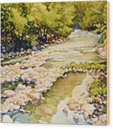 Low Flowing Creek Wood Print
