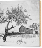 Low Horcum Wood Print