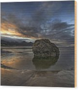 Low Tide At Cannon Beach Oregon Wood Print