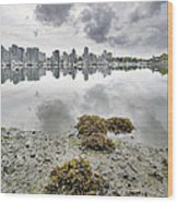 Low Tide At False Creek In Stanley Park Wood Print