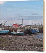 Low Tide At Harbourville Nova Scotia Wood Print