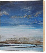 Low Tide Beach Rhythms And Textures Blue Series1 Wood Print by Mike   Bell