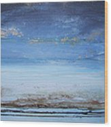 Low Tide Beach Rhythms And Textures Blue Series1a Wood Print by Mike   Bell