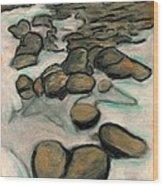 Low Tide Wood Print by Carla Sa Fernandes