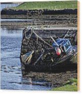 Low Tide Donegal Ireland Wood Print