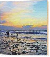Low Tide Glow Wood Print