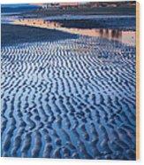 Low Tide In Seattle Wood Print