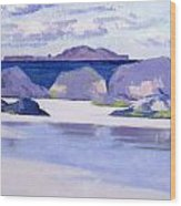 Low Tide  Iona Wood Print by Francis Campbell Boileau Cadell