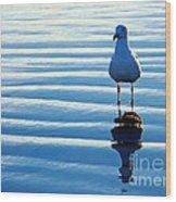 Low Tide Mirror Wood Print