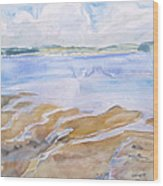 Low Tide - Penobscot Bay Wood Print by Grace Keown