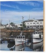 Low Tide Plymouth Ma Wood Print