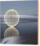 Low Tide Reflection Wood Print