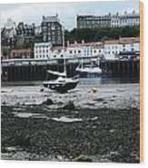 Low Tide Whitby Wood Print