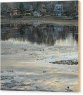 Low Water At Lake Garfield Wood Print