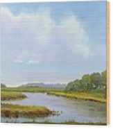 Lowcountry Afternoon Wood Print