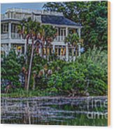Lowcountry Home On The Wando River Wood Print