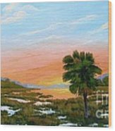 Lowcountry Sunrise Wood Print