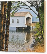 Lowell Covered Bridge Wood Print