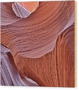 Lower Antelope Canyon Curves Wood Print