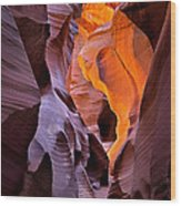 Lower Antelope Glow Wood Print