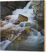Lower Apikumi Falls Glacier National Park Wood Print