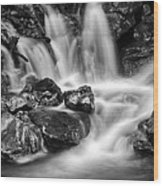 Lower Bridal Veil Falls 5 Bw Wood Print