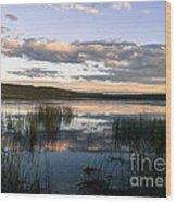 Lower Carter Pond At Dusk Wood Print