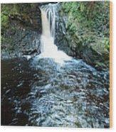 Lower Fall Puck's Glen Wood Print
