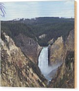 Lower Falls Of The Yellowstone River Wood Print