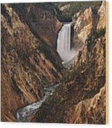Lower Falls Of Yellowstone Wood Print