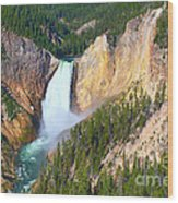 Lower Falls Yellowstone 2 Wood Print