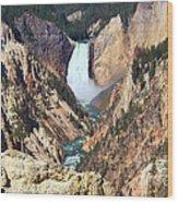 Lower Falls Yellowstone Wood Print