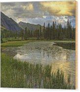 Lower Ice Lake Wood Print