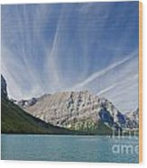 Lower Kananaskis Lake Wood Print