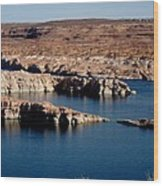 Lower Level Lake Powell Wood Print