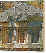 Lower-level Tomb In Myra-turkey Wood Print