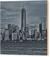 Lower Manhattan And The Freedom Tower Wood Print