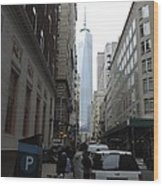 Lower Manhattan And The New World Trade Center Wood Print