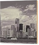 Lower Manhattan Skyline 2 Wood Print