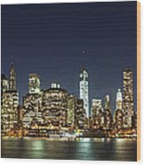 Lower Manhatten Pano Wood Print