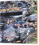 Lower Part Of Munising Falls Wood Print