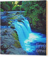 Lower Punchbowl Falls Wood Print
