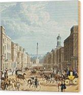Lower Regent Street, Pub. By Ackermann Wood Print