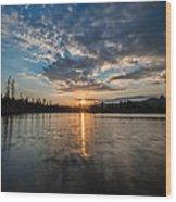 Lower Sunset Lake Wood Print