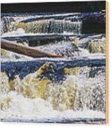 Lower Tequamenon Falls Wood Print