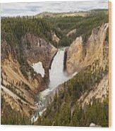 Lower Yellowstone Canyon Falls Wood Print